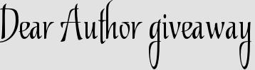 Dear Author giveaway